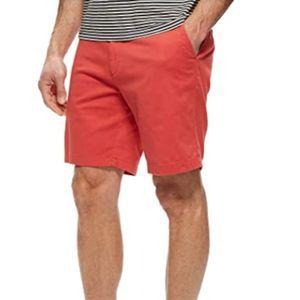 Nautica Classic Fit Deck Short Sailor Red Sz 34